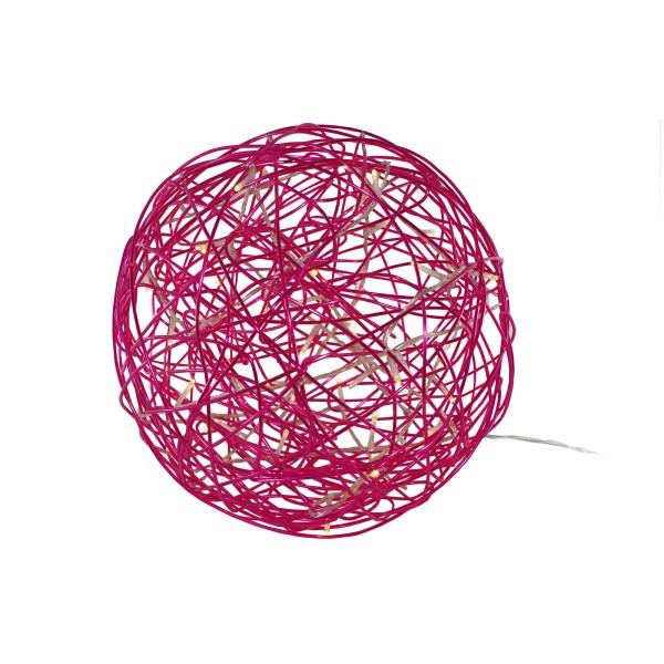 LED-3D-Design-Kugel Galax Fun, Ø 30 cm, pink