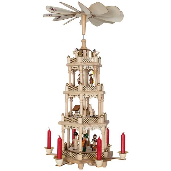 Weihnachtspyramide für 6 Kerzen