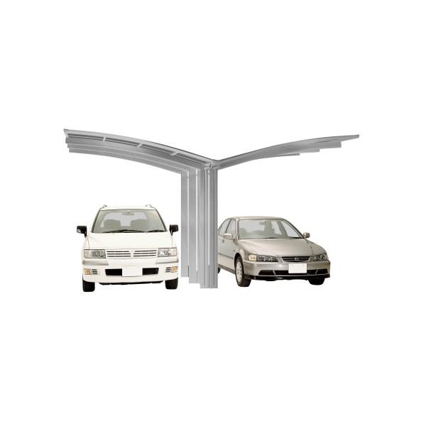 Ximax Carport Portoforte Typ 110 Y-Ausführung Edelstahl-Look