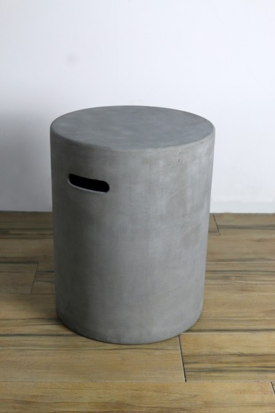 Abdeckung für Gasflaschen für 5 kg Gasflaschen in Beton-Optik grau
