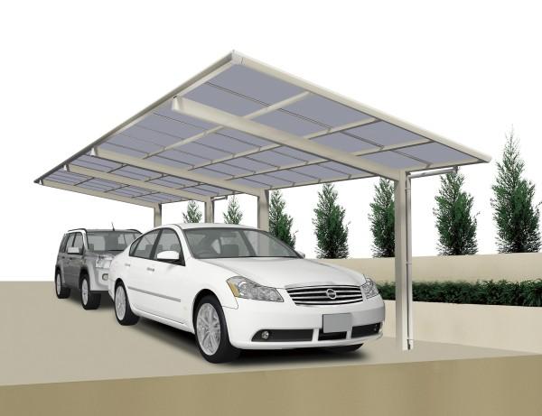 Ximax Carport Linea Typ 60 Tandem Edelstahl-Look