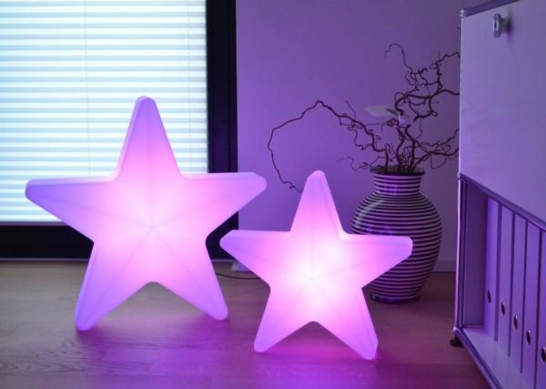 LED Stern mit Kabel, Maße ca. 40 x 40 cm