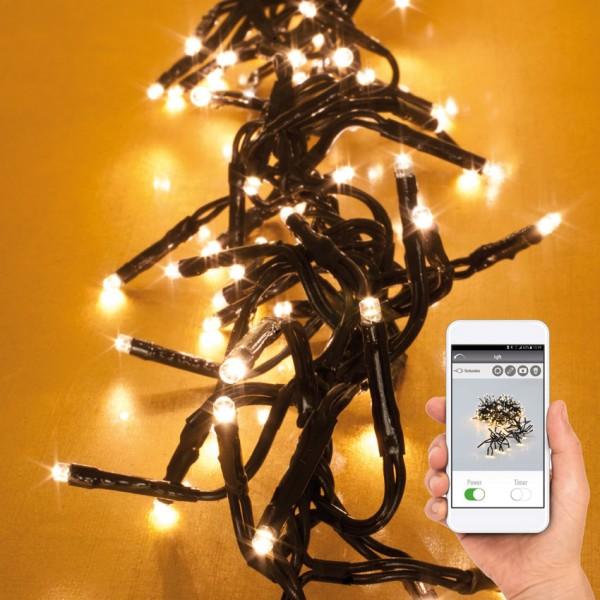 Max Pferdekaemper LED-Clusterlightketten mit App-Control, warmweiße LEDs