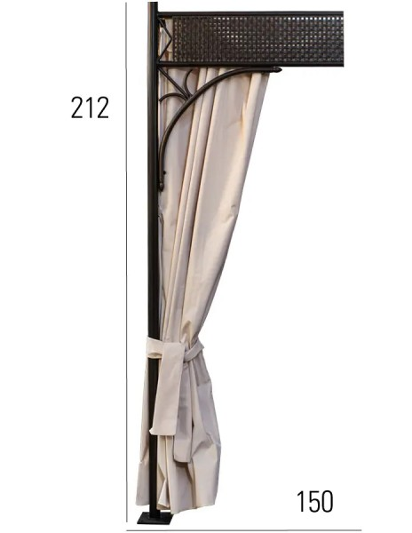 Vorhang-Set für Pavillon Romeo Romantik, 6 Seiten