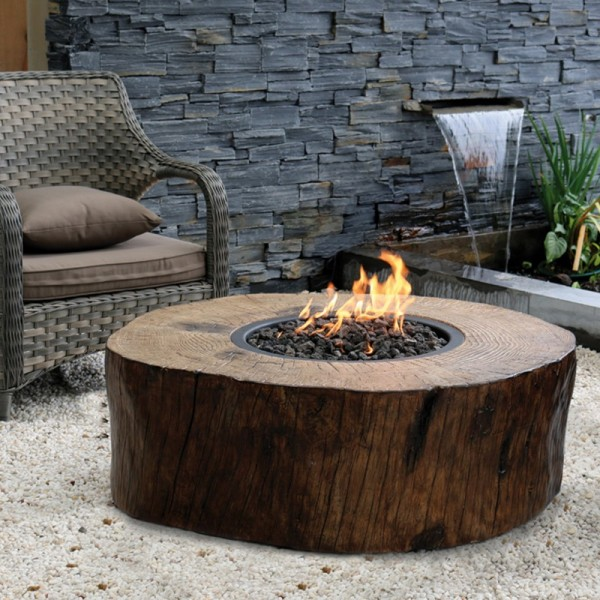 Gardenforma Gas Feuerstelle Aragaz aus Eco Stone