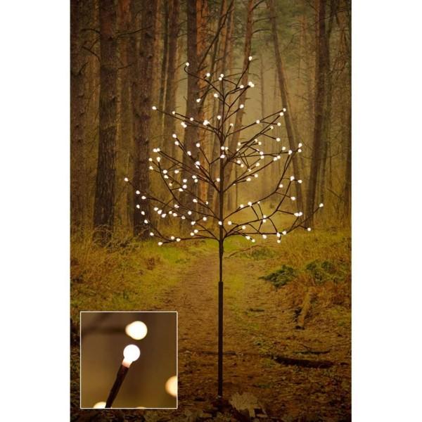 LED Lichterbaum braun mit 120 warm weissen Dioden