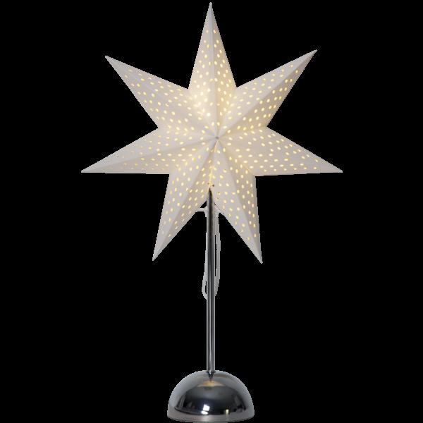 Best Season LED Standleuchte Stern LOTTI, ca. 35 x 55 cm, chrome