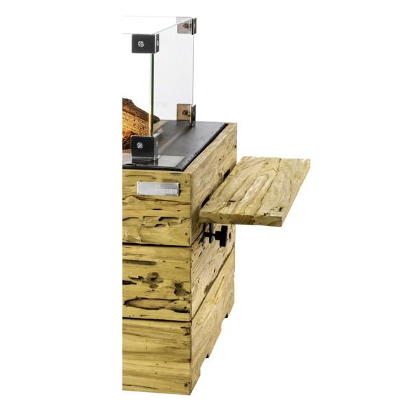 Happy Cocooning Seitentisch Driftwood für Feuertisch, 2 Stück