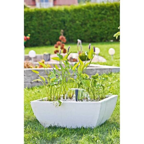 Heissner Wassergarten Set eckig, weiß