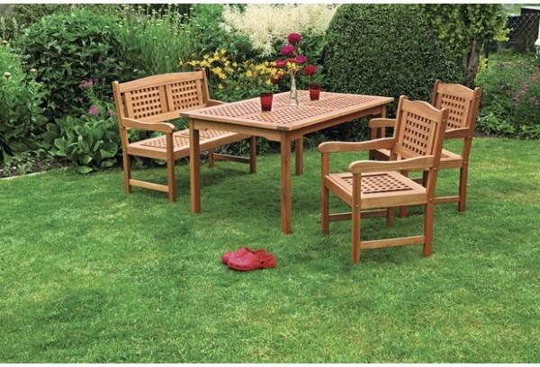 Merxx Lima Set 4-teilig, 2-er Bank, Sessel und Tisch 150 x 90cm