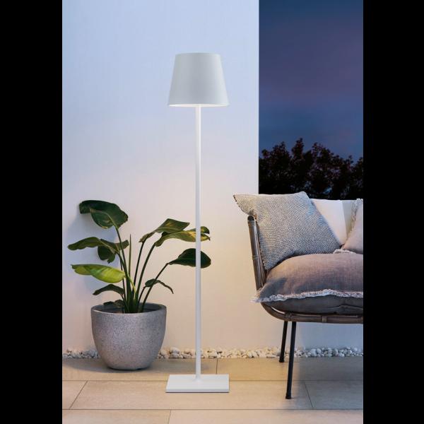 LED Stehleuchte QUINT, kabellose Outdoor-Leuchte, 3 variablen Höhen, weiß