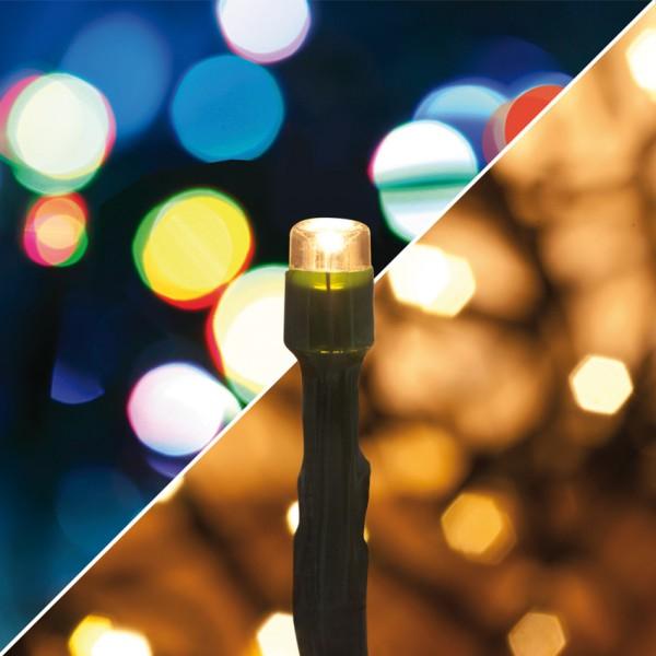LED-Minilichterkette, warmweiße und multicolor LEDs 240 LEDs