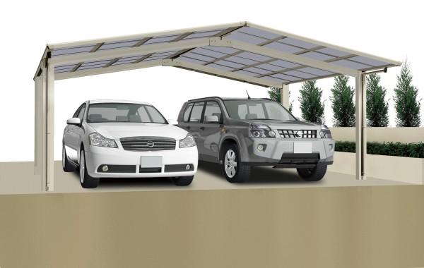 Ximax Carport Linea Typ 60 M-Ausführung Edelstahl-Look