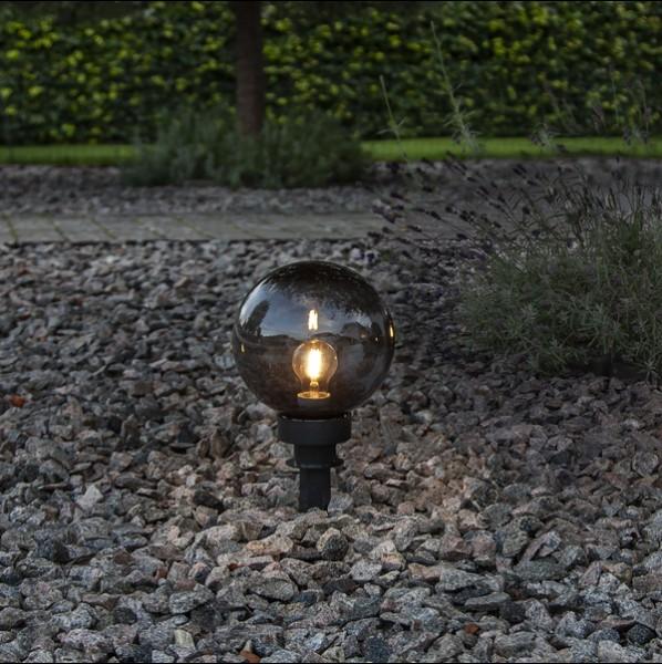 LED Dekokugel ORBY, schwarz, Größe Ø 20 cm