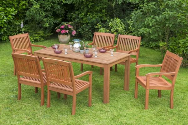 Merxx 7-teilig Maracaibo Set, Sessel und Tisch 170 x 90 cm