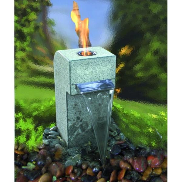 Feuer-Wasserspiel Gibbet Yellow, Granit gelb für Bioethanol - Komplettset