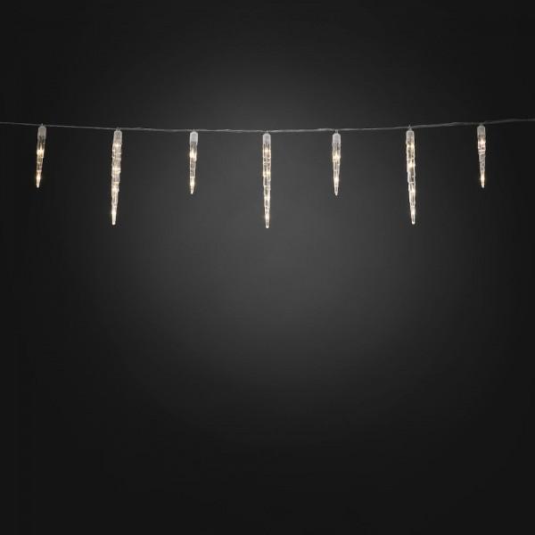 Konstsmide LED Eiszapfen Lichtervorhang, 32 Zapfen, mit Multifunktion - 1775 cm