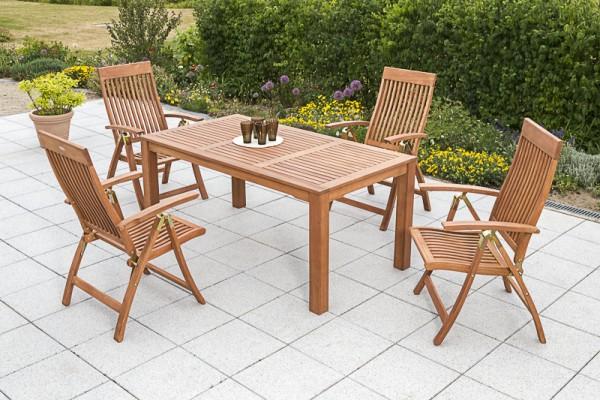 Merxx 5-teilig Comodoro Set, Klappsessel und Tisch 170x90 cm