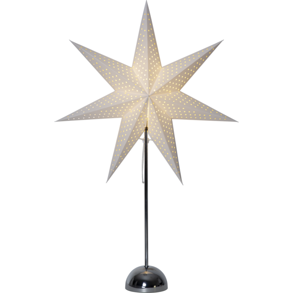 Best Season LED Standleuchte Stern LOTTI, ca. 75 x 50 cm, chrome