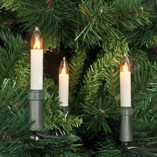 Rotpfeil Weihnachtsbaumkette, klar/elfenbein