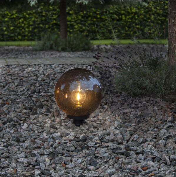 LED Dekokugel ORBY, schwarz, Größe Ø 30 cm