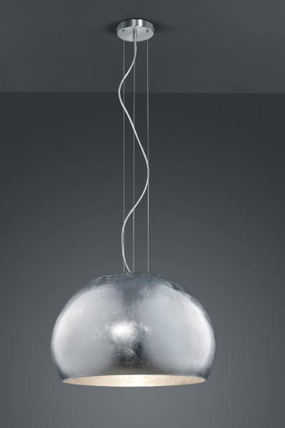 TRIO Leuchten Pendelleuchte ONTARIO, silber, 1x E27/60W