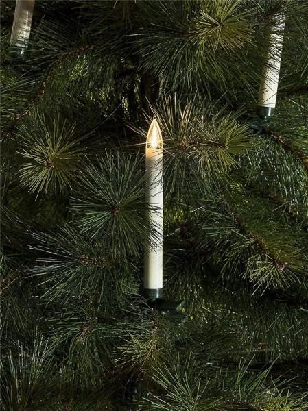 LED Baumbeleuchtung - 10 Kerzen batteriebetrieben - Zusatzset