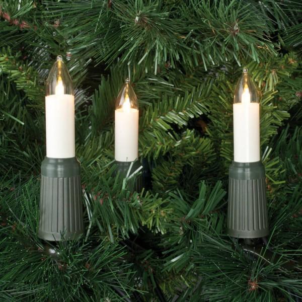Rotpfeil LED-Weihnachtsbaumkette, klar/elfenbein, 15LEDs