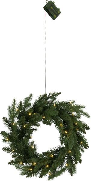 Weihnachtskranz BYSKE, beleuchtet, Ø 45 cm