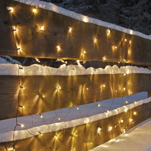 LED-Minilichternetz, 200 warmweiße LEDs