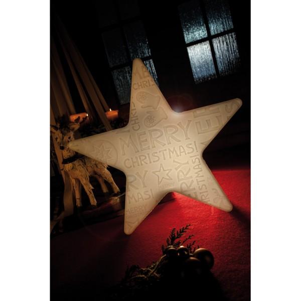 Außendekoleuchte, SHINING STAR, MERRY CHRISTMAS