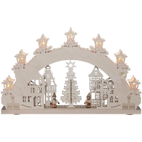 Original Erzgebirge Weihnachtsleuchter Weihnachtsmarkt