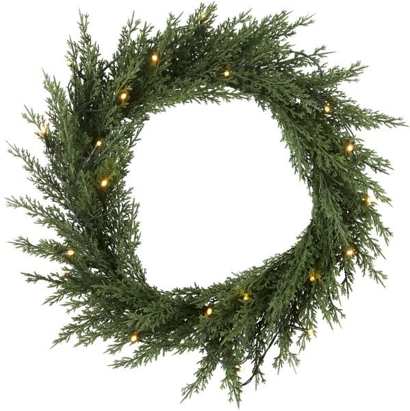 Best Season Weihnachtskranz THUJA, beleuchtet, ca. Ø 40 cm