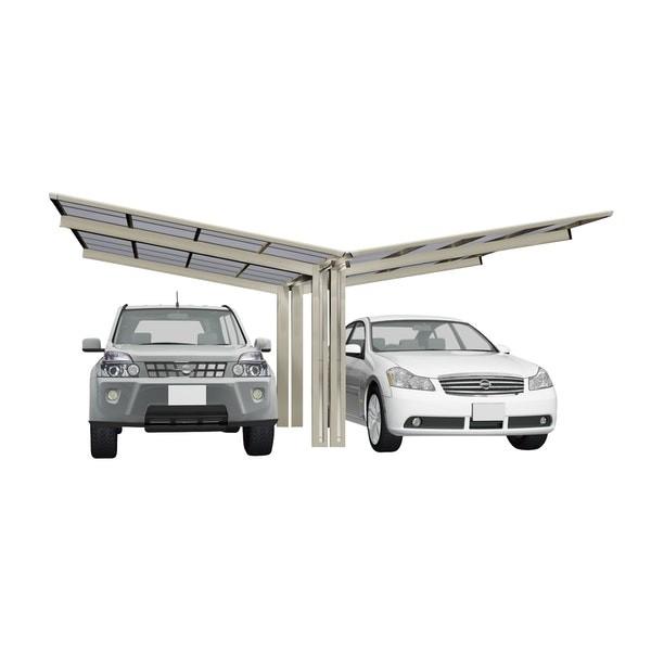 Ximax Carport Linea Typ 80 Y-Ausführung Edelstahl-Look
