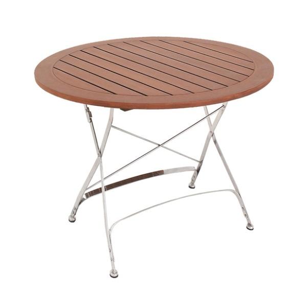 Tisch Brazil Burma, Tischplatte gelattet, Ø 100 cm