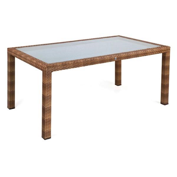 MBM Tisch Bellini Tobacco mit Glasplatte 90 x 160 cm