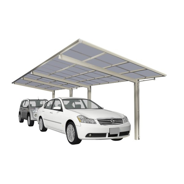 Ximax Carport Linea Typ 80 Tandem-Ausführung Edelstahl-Look