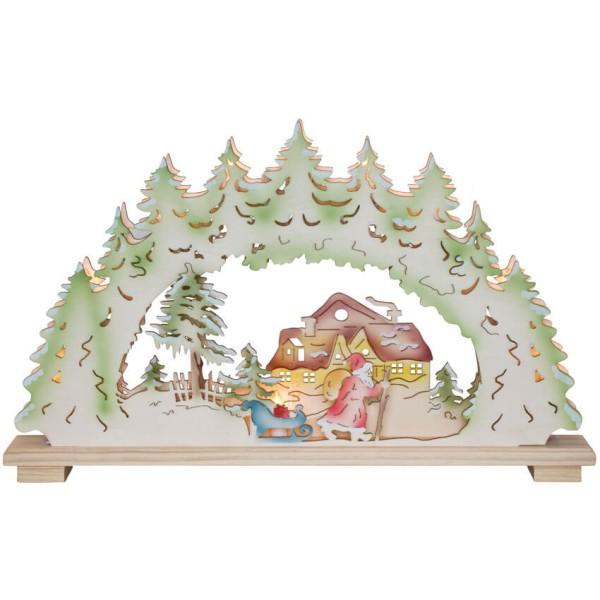 Original Erzgebirge Weihnachtsleuchter Weihnachtsnacht