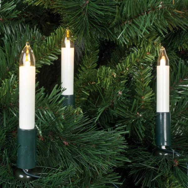 Rotpfeil LED-Weihnachtsbaumketten, klar/elfenbein