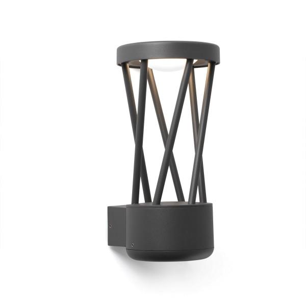 LED Aussen-Wandleuchte TWIST, dunkelgrau