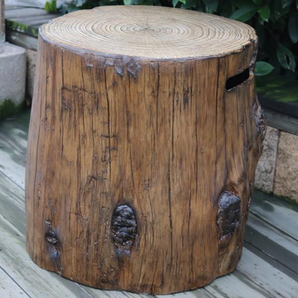 Gardenforma Abdeckung für Gasflaschen, Baumstamm-Optik Eco-Stone, für 5kg Gasbehälter