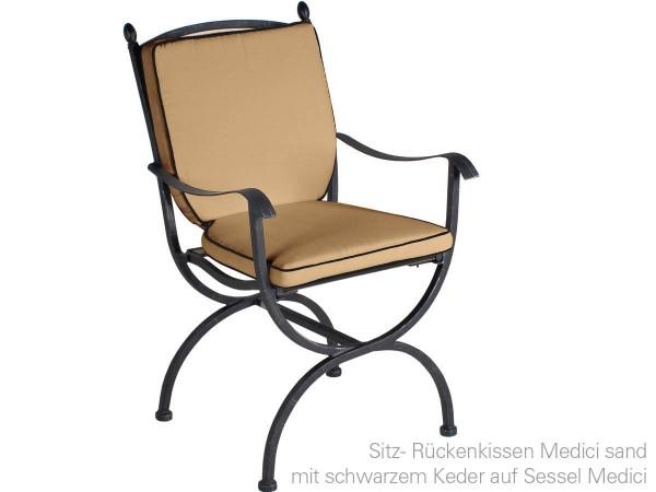 MBM Sitz-/Rückenkissen Sand, passend zum Sessel Medici