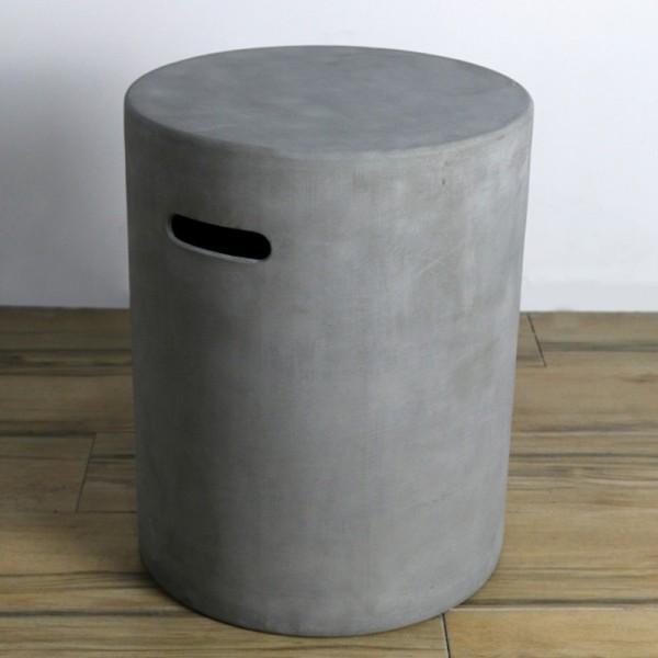 Abdeckung für Gasflaschen, Beton-Optik grau Faser-Beton, für 5 kg Gasbehälter
