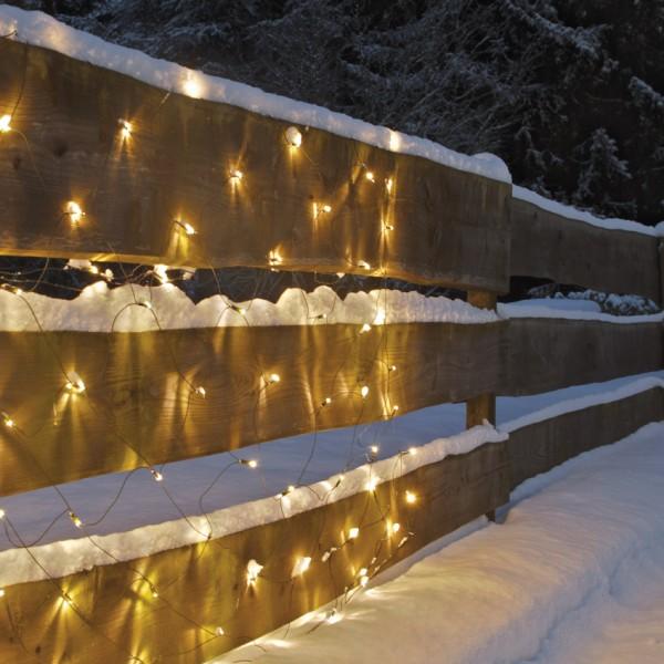 LED-Minilichternetz, 320 warmweiße LEDs