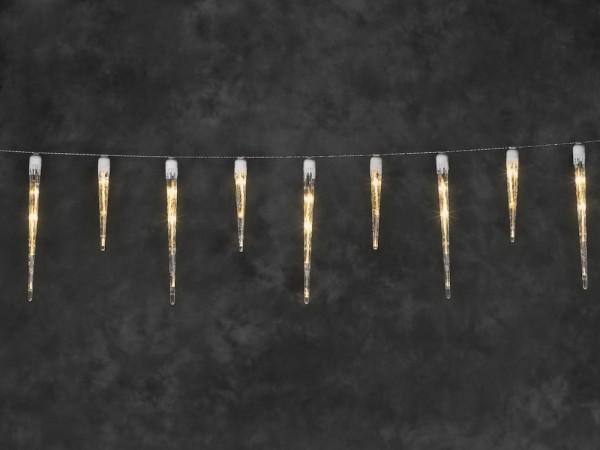 Konstsmide LED Eiszapfen Lichtervorhang mit 32 Zapfen - 1775 cm