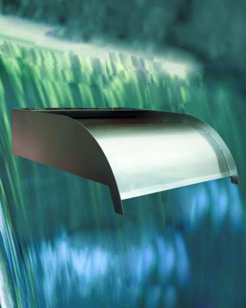 Edelstahl Wasserspiel, Wasserfall, 1'' Anschluß, hellgrau