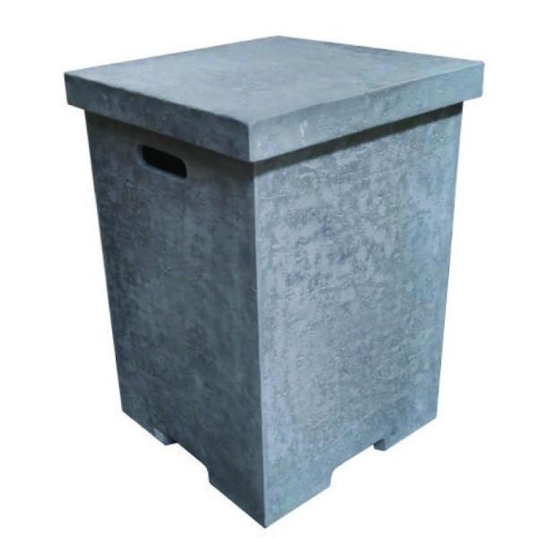 Abdeckung eckig für Gasflaschen, Beton-Optik grau, für 11 kg Gasbehälter