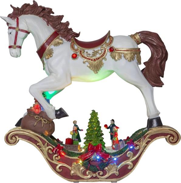 LED-Weihnachtszene SWING Schaukelpferd