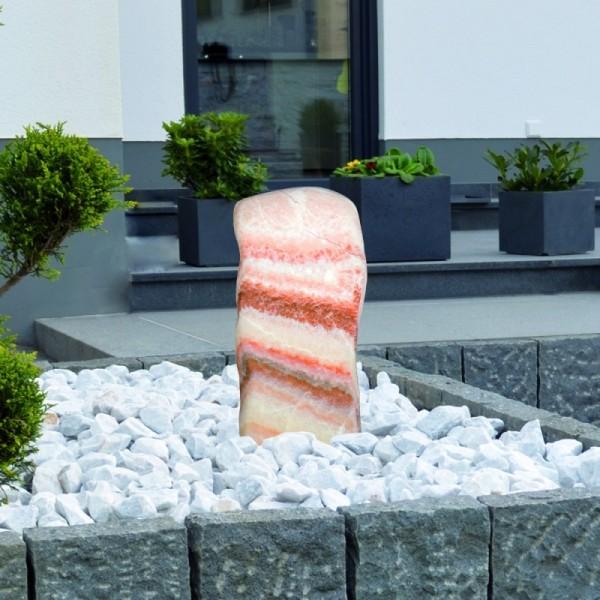 Gardenforma Wasserspiel-Findling Red Belt - Marmor - Komplettset