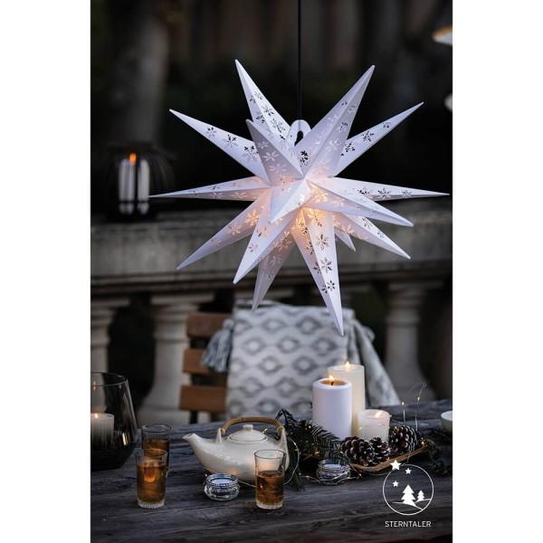 Weihnachtsstern, weiß, ca. Ø 55 cm, 1 x E14/15W